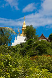 Phuse mountain, the landmark of Luang Prabang Stock Image