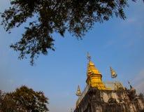 Phusi pagod på överkanten av den Phusi kullen, Luangprabang, Laos Arkivbild