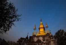 Phusi pagod på överkanten av den Phusi kullen, Luangprabang, Laos Royaltyfri Fotografi