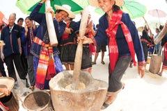 Phutai kobiety ubijanie mniejszościowi ryż obrazy royalty free