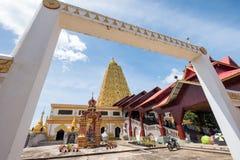 Phuthakaya pagoda,Bodh Gaya gold building landmark. Of sangkhlaburi Royalty Free Stock Images