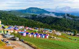 PHUTHAPBOEK PHETCHABUN THAILAND - OCTOBER 9 : Resorts and lodges Royalty Free Stock Photo