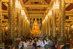 Phuttha Phra ονόματος αγαλμάτων του Βούδα chinnarat σε Wat Phra Sri Rattana Mahathat Στοκ φωτογραφίες με δικαίωμα ελεύθερης χρήσης