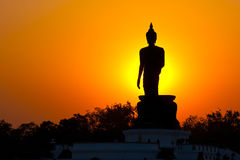 Phutthamonthon is a Buddhist park. In the Phutthamonthon district, Nakhon Pathom Province of Thailand, west of Bangkok. It is highlighted by a 15.87 m high Stock Photo