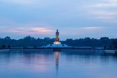 Twilight sky and Buddha statue at  Phutthamonthon,Nakhon Pathom,Thailand Stock Photos