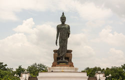 Phutthamonthon is a Buddhist park. In Nakhon Pathom Province of Thailand. Highlighted by a 15.87 m high Buddha statue which is considered to be the tallest free Royalty Free Stock Photo