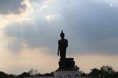 Phutthamonthon buddist, parkerar, Thailand, bangkok arkivbild