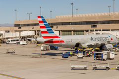 PHX airport. American Airlines planes on ramp Stock Photos