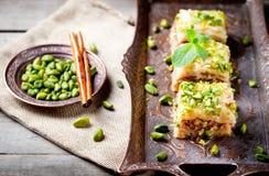Турецкий десерт гайки и печенья phyllo, бахлава Стоковое Изображение RF