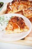 Phyllo pastry cheese pie Stock Photos