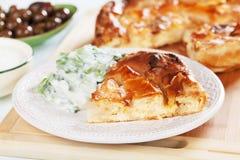 Phyllo pastry cheese pie Stock Image