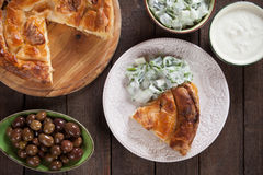 Phyllo pastry cheese pie Stock Images