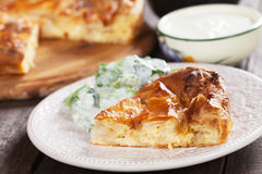 Phyllo pastry cheese pied Stock Photos