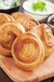 Phyllo pastry cheese pies Stock Images