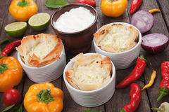 Phyllo pastry cups Royalty Free Stock Photos