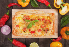 Phyllo pastry pizza Stock Photo