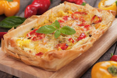Phyllo pastry pizza Royalty Free Stock Photography