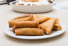 Phyllo pastry stuffed - pastel And cigar Royalty Free Stock Images