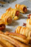 Sausage canape stock photography