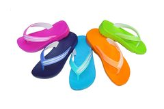 Phylon flip flop mix color Stock Photography