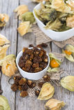 Physalis (dried) royalty free stock photos
