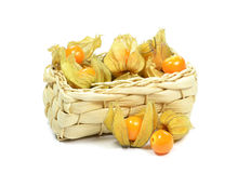 Physalis fruit in a basket Stock Photo