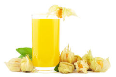 Physalis juice Stock Photos