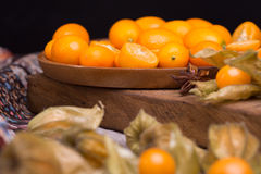 Physalis and kumquat Stock Image