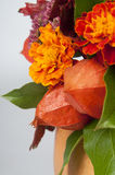 Physalis and marigolds Royalty Free Stock Photos