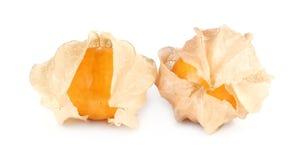 Physalisfrucht, KapBeerenobst lokalisiert auf Weiß Lizenzfreies Stockfoto