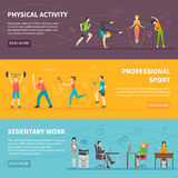 Physical Activity Banners Stock Photo