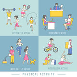 Physical activity concept Stock Images