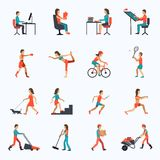 Physical Activity Icons Stock Images