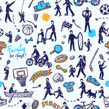 Physical Activity Seamless Pattern Royalty Free Stock Image