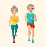 Physical activity for seniors. Vector Illustration Stock Photo