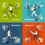 Physical Activity Set Royalty Free Stock Images