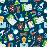Physical and chemical research seamless pattern Royalty Free Stock Images
