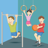 Physical Education Class Stock Images