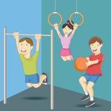 Physical Education Class vector illustration