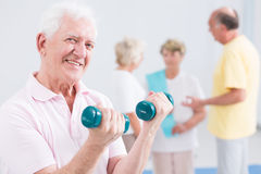 Physical effort helping him stay active for long Royalty Free Stock Images