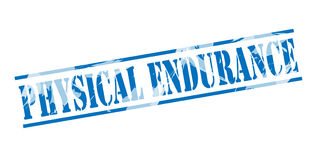 Physical endurance blue stamp. Isolated on white background Royalty Free Stock Photos