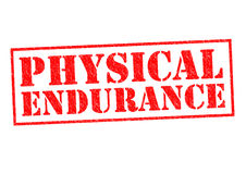 PHYSICAL ENDURANCE. Red Rubber Stamp over a white background Stock Photography