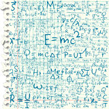 Physical equations Royalty Free Stock Image