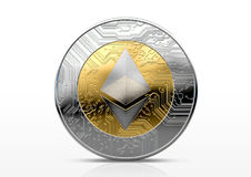Cryptocurrency Physical Coin Stock Photos
