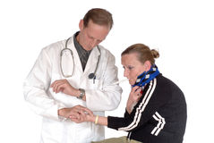 Physical exam, doctor Royalty Free Stock Photo