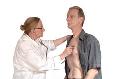 Physical exam, doctor Stock Photography