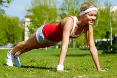 Physical exercise Stock Photo