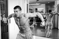 Physical exercise in the gym Royalty Free Stock Image