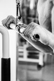 Physical exercise in the gym Royalty Free Stock Photo