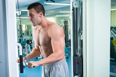 Physical exercise in the gym Royalty Free Stock Images